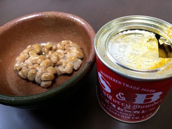 しらべぇ0104納豆カレー