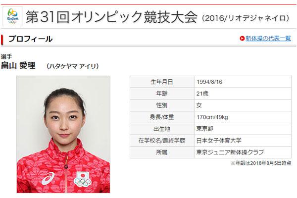 画像は日本オリンピック委員会のスクリーンショット