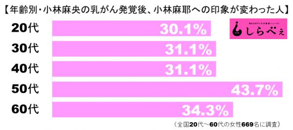 小林麻耶への印象グラフ2