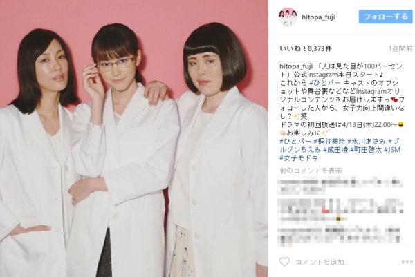 (画像は【公式】人は見た目が100パーセントさん(@hitopa_fuji)・Instagram写真と動画のスクリーンショット)