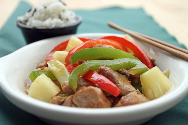 酢豚パイナップル