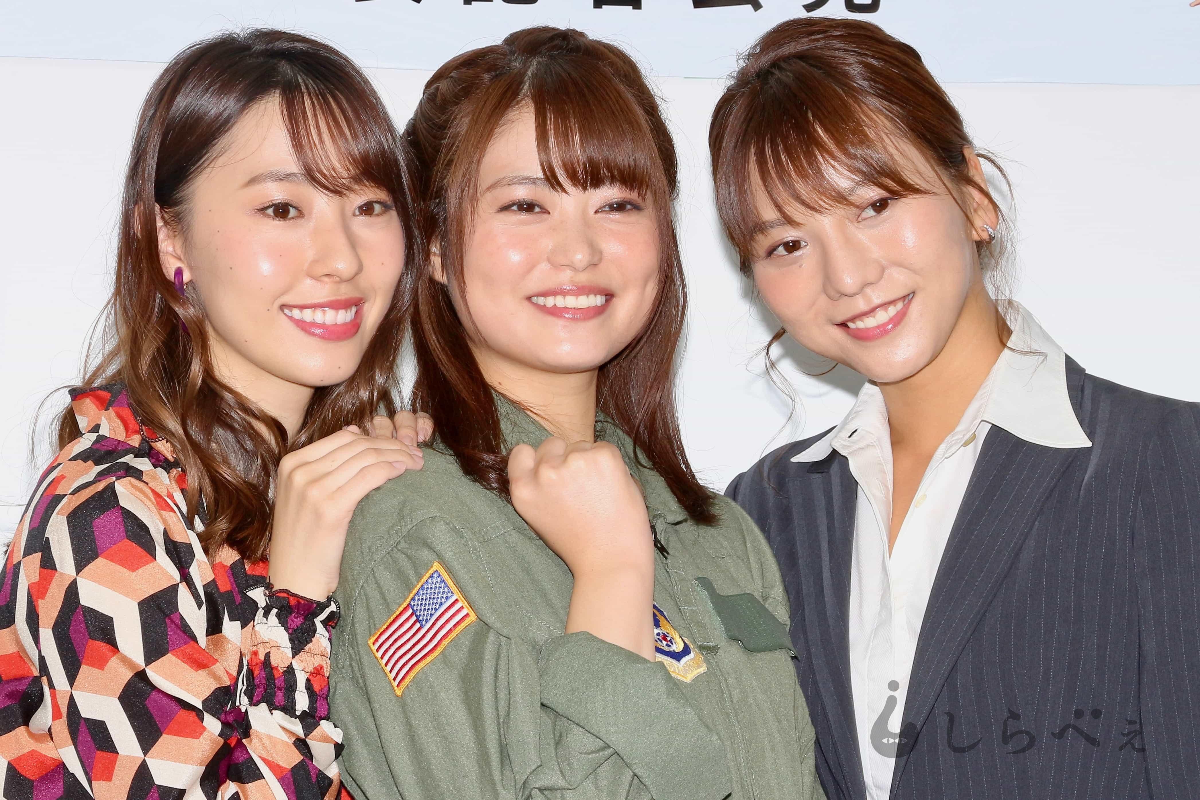 藤江れいな、高城亜樹、前田亜美
